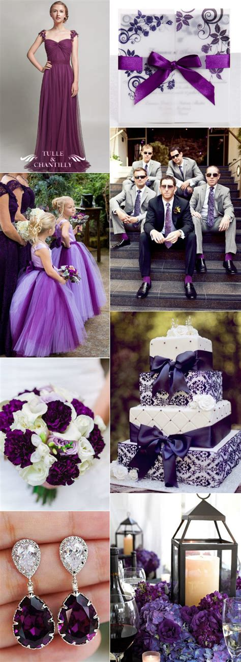 36 Glamorous Purple Wedding Ideas Tulle And Chantilly