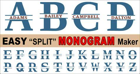 split letter stencil font monogram maker patterns monograms stencils diy projects