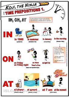 grammar prepositions  time