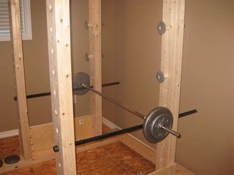 diy power rack power rack made out of wood and pipe