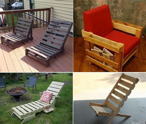 diy pallet lounge chair home design garden