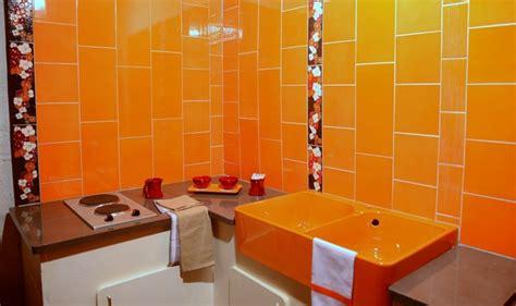 cuisine orange la couleur tonifiante  vive