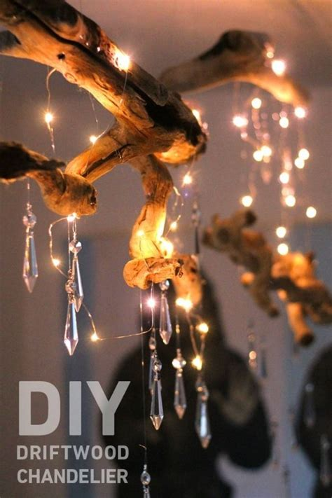 Candle Chandeliers For Cool Ceiling Decorating Ideas Via Homeandgarden 1 by Diy Driftwood Chandelier 34 Driftwood Crafts To Give A