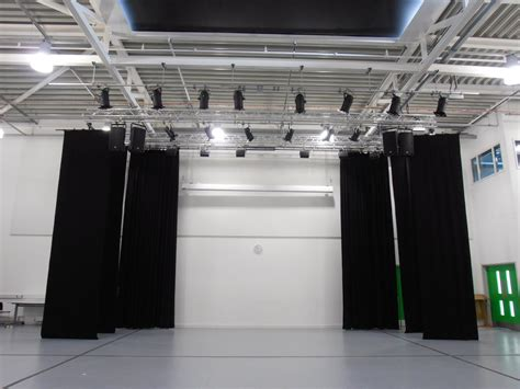 stage curtain track installation