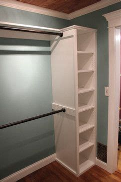add ready made shelving from ikea and attach rods notice