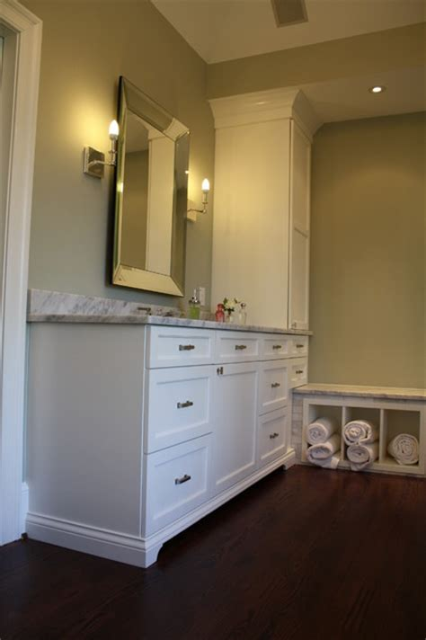 matching his and master bath vanities and towers