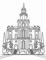 Lds Temple Coloring Pages Utah George St Latter Drawing Saints Jesus Church Christ Printable Getcolorings Nauvoo Getdrawings sketch template