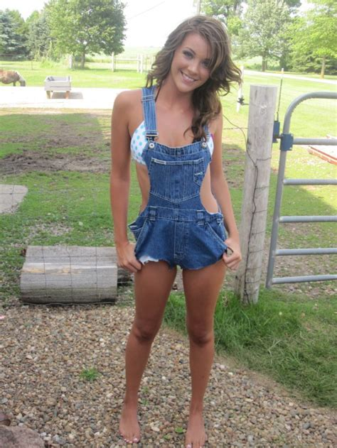Country girl in overalls - Would You Bang Her?
