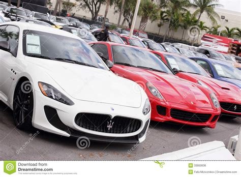 Exotic Cars At Prestige Imports Editorial Photo