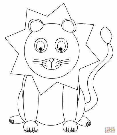 Lion Coloring Pages Lioness Lions Cartoon Drawing