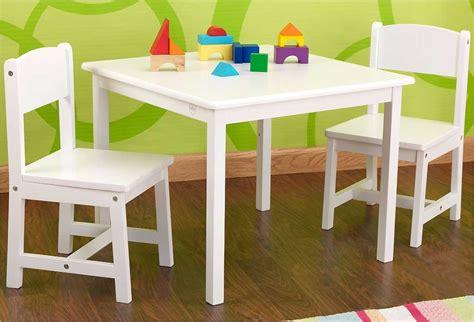 table et chaise bébé 18 mois table en bois blanche pour enfant et 2 chaises kidkraft