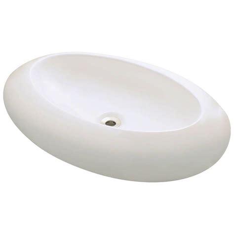 Porcelain Vessel Sink Home Depot by Polaris Sinks Porcelain Vessel Sink In Bisque P08v B The
