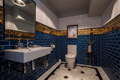 16  Gold Tile Bathroom Designs, Decorating Ideas   Design