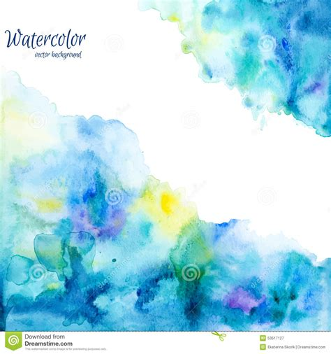 Abstract Shapes Watercolor by Abstract Watercolor Background Vector