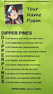 Dipper Pines Name Poem