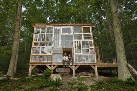 moon to moon the glass house a handmade cabin made
