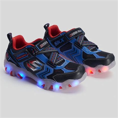 skechers kids light up shoes skechers street lightz light up kids blue red athletic