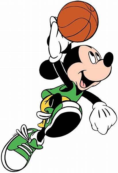 Mickey Basketball Mouse Disney Sports Minnie Clip