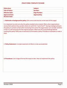 Policy And Procedure Templates For Word And Pdf