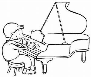 Dibujos para colorear tocar piano - Imagui