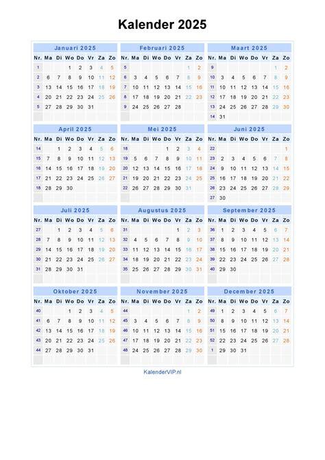 kalender jaarkalender en maandkalender met weeknummers en