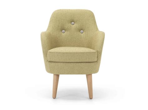 Upholstered Fabric Armchair Cornell Small Cornell