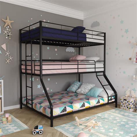 metal triple bunk bed dhp furniture