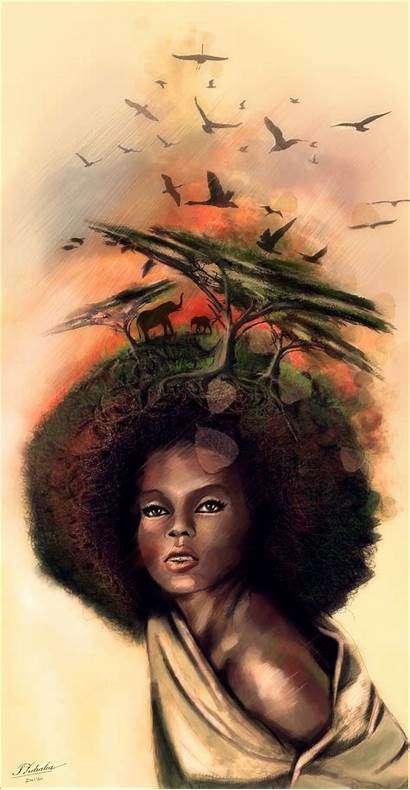 African Dream Natural Afro Hair American Mother