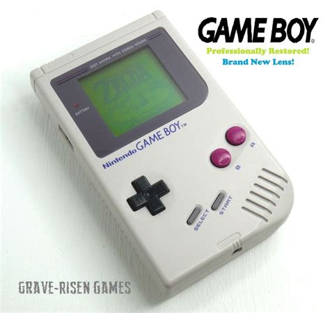 Restored Original Nintendo Game Boy Dmg 01 Handheld