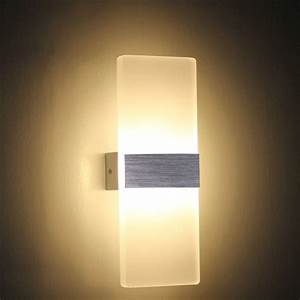Modern Led 6w Wall Lamps Sconces Aluminum Reading Lights