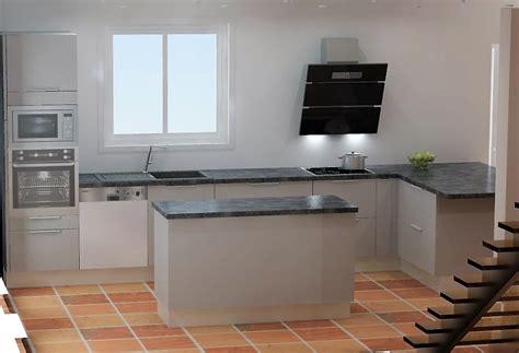 meuble de cuisine ilot central distance entre ilot central et meuble imahoe com