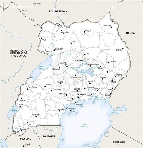 vector map  uganda political  stop map