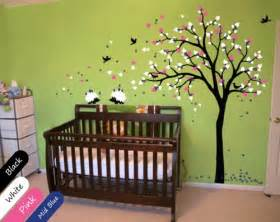 modern baby nursery wall decals tree wall decal tree decal hedgehog decal nursery