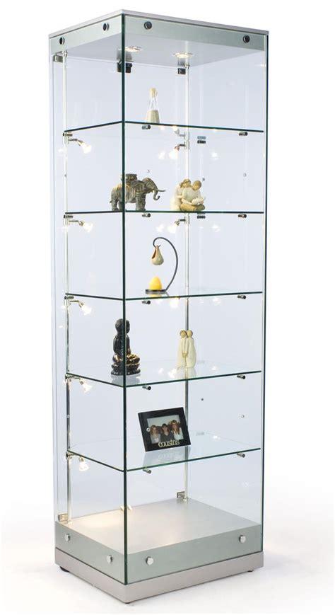 glass cabinets w halogen lighting silver mdf