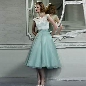 chic vintage mi mollet dentelle robes de soiree modeste With robe mi mollet