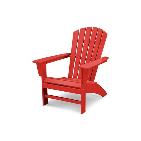 polywood traditional curveback adirondack chair in sunset