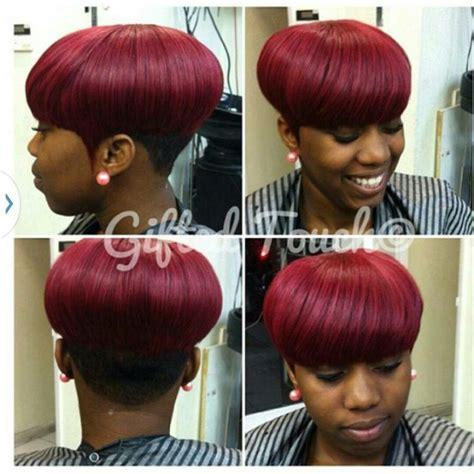 mushroom cut  piece hairstyles pinterest colors