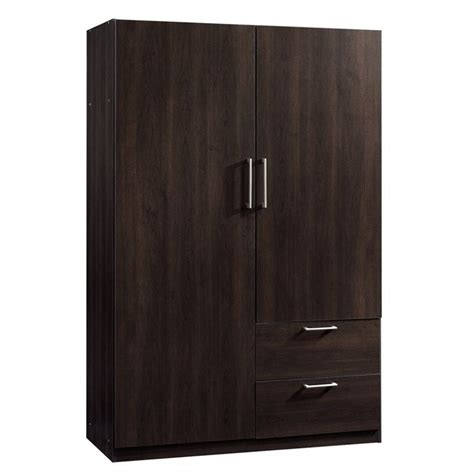 Wardrobe Cabinet by Sauder Beginnings Storage Cabinet Cinnamon Cherry Wardrobe
