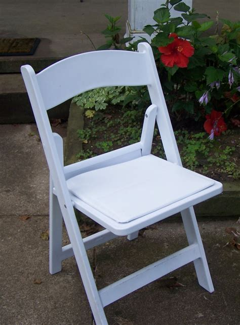 white padded resin chairs witt rental