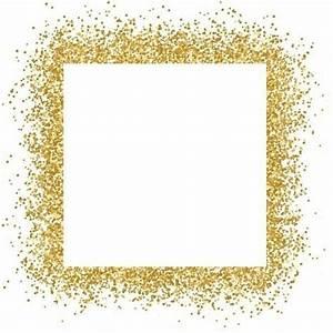 free vector Gold glitter frame sparkles on white ...