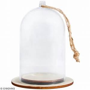 Cloche En Verre Avec Socle : cloche en plastique avec socle rayher 5 x 9 cm pots et cloches en verre creavea ~ Teatrodelosmanantiales.com Idées de Décoration