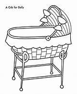 Coloring Toys Crib Doll Colouring Cradle Template Sketch Sheets Sheet Popular Desenhos Honkingdonkey sketch template