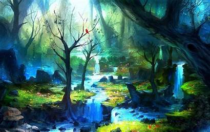 Enchanted Forest Background Desktop Wallpapers Wide Wallpapertag