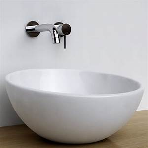 Vasque Castorama à Poser : vasque poser ronde bol 42 cm c ramique pure ~ Edinachiropracticcenter.com Idées de Décoration