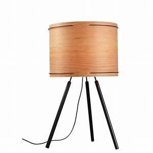 Abat Jour En Bois : lampe poser design en bois tourn fire ~ Dailycaller-alerts.com Idées de Décoration