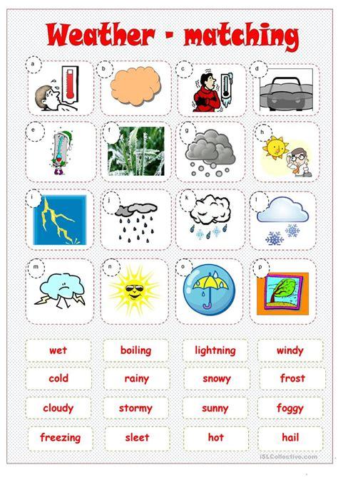 weather matching worksheet free esl printable worksheets made by teachers