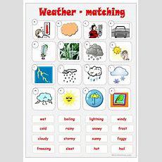 Weather Matching Worksheet  Free Esl Printable Worksheets
