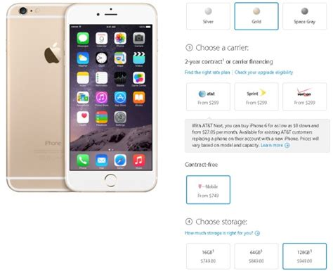 iphone 6 128gb price apple iphone 6 plus contract free prices are out 949 for