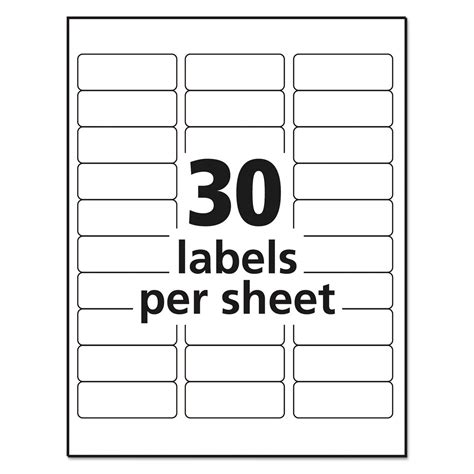 avery label template  labels information list