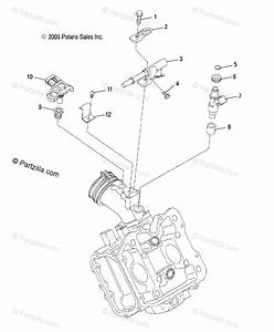 Polaris Atv 2007 Oem Parts Diagram For Engine  Fuel